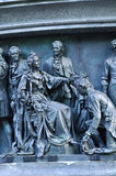 Sculptural group Statesmen at the monument Millennium of Russia, Veliky Novgorod, Russia Stock Photo
