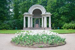 A sculptural monument to Maria Fiodorovna in Rossi's pavilion. Royalty Free Stock Photography