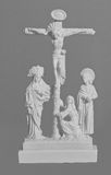 Sculptural religious crucifixion scene Royalty Free Stock Photo