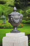 Sculptural vase in the Bahai Gardens, Haifa stock images