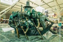 Sculpture à l'aéroport de Vancouver, Vancouver, Canada Image stock