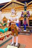 Sculpture à un temple indou Photographie stock libre de droits