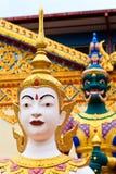 Sculpture à un temple indou Photographie stock