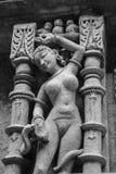 Sculpture érotique au puits d'étape de Patan photographie stock libre de droits