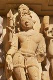 Sculpture érotique au temple de Vishvanatha aux temples occidentaux de Khajuraho dans Madhya Pradesh, Inde photos stock