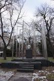 Sculpture étrange d'une tête de repas en parc de Vienne photo libre de droits