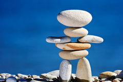 Sculpture. Of white gravel on the sea coast Stock Images