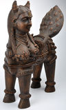 Sculpture. A cow and woman mixing one statue Stock Images