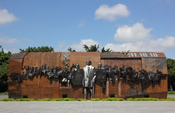 Sculpture of the 1911 Revolution. In Zhongshan City, Guangdong Province, China Stock Image