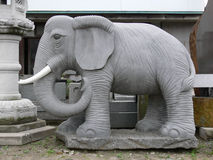 Sculpture. Japanese stone sculpture elephant royalty free stock photos