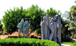 Sculpture abstraite de pierre Images libres de droits