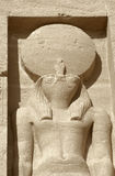 Sculpture at Abu Simbel temples in Egypt Stock Images
