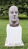 Sculpture Academician Fersman in the park Muzeon, granite. Sculptor Ye. Preobrazhenskaya. Moscow, Russia -September 09,2016: Sculpture Academician Fersman in the Royalty Free Stock Photography