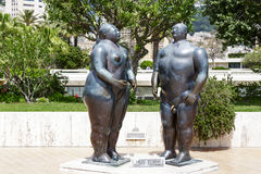 Sculpture of Adam and Eve in Monte Carlo Royalty Free Stock Image