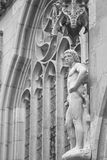 Sculpture of Adam, Rothenburg, Germany, Europe. B/W Royalty Free Stock Image
