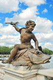 Sculpture that adorns the bridge in Paris Royalty Free Stock Photography