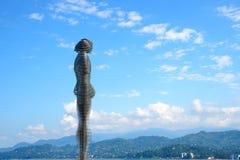 Sculpture Ali and Nino in Batumi Stock Image