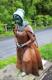 Sculpture of Alice Nutter famous English witch. stock photo