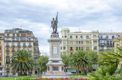 Sculpture of Almirante  Antonio de Oquendo,San Sebastian Stock Photography