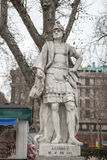 Sculpture of Alonso II King at Plaza de Oriente, Madrid, Spain Stock Photos
