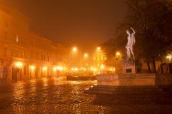 Sculpture of Amphitrite. In western ukrainian city Lviv stock photos
