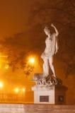 Sculpture of Amphitrite. In western ukrainian city Lviv royalty free stock image