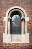 Sculpture of the ancient castle window Stock Images