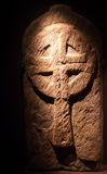 Sculpture of an ancient irish religious cross Royalty Free Stock Images
