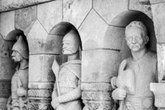 Sculpture of Fishermen`s Bastion in Budapest royalty free stock photos