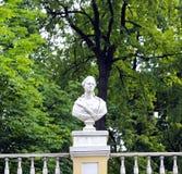 Sculpture of ancient women in St. Petersburg Stock Image
