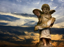 Sculpture of angel Stock Photography