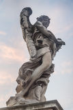Sculpture of an angel on the bridge of Sant`Angelo in Rome, Ital Stock Photo