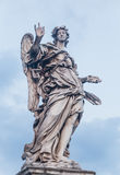 Sculpture of an angel on the bridge of Sant`Angelo in Rome Stock Photo