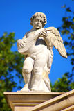 Sculpture of an angel with a domra Royalty Free Stock Image