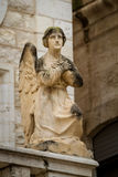 Sculpture of angel in facade, Catholic Wedding Church in Cana, Israel Royalty Free Stock Image
