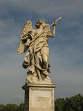 Sculpture of angel. One of the angels on the Sant Angelo bridge leading to Sant Angelo castle Stock Photo