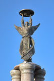 Sculpture of angel on the top of the monument to commemorate the 300th anniversary of Taganrog. Taganrog, Russia. Sculpture of guardian angel on the top of the Royalty Free Stock Photos