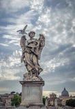 Sculpture of angel with Veronica's Veil, Sant'Angelo bridge, Royalty Free Stock Photos