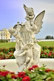 The sculpture of the Angels at the Arkhangelskoe estate in Moscow. Royalty Free Stock Photo