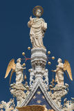 Sculpture of angels and saint at Doge Palace, Venice, Italy Royalty Free Stock Photography