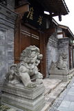 Chinese Stone Lion Guardian Royalty Free Stock Photos