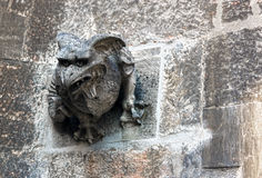 Sculpture of an animal at the Naumburg Cathedral Royalty Free Stock Image