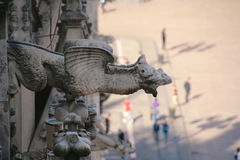 Sculpture animale à la cathédrale de Milan Photos stock