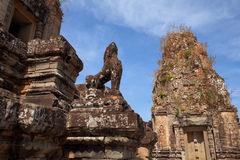 Sculpture in ankor wat,. Cambodia Stock Images