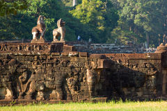 Sculpture in ankor wat,. Cambodia Royalty Free Stock Image