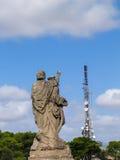 Sculpture antique située sur la montagne près du San Salvador de monastère Photo stock