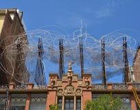 Sculpture of Antoni Tapies in Barcelona Stock Image