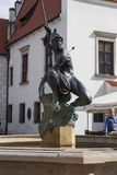 Sculpture of Apollo on the Old Market Square in Poznan Stock Image