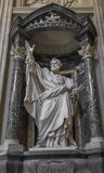 Sculpture of the Apostle San Pietro St. Peter in the Basilica of St. John Lateran in Rome. Sculpture of the Apostle San Pietro & x28;St. Peter& x29; in the Stock Photos