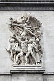 Sculpture on the Arch of Triumph, Paris, France Stock Photography